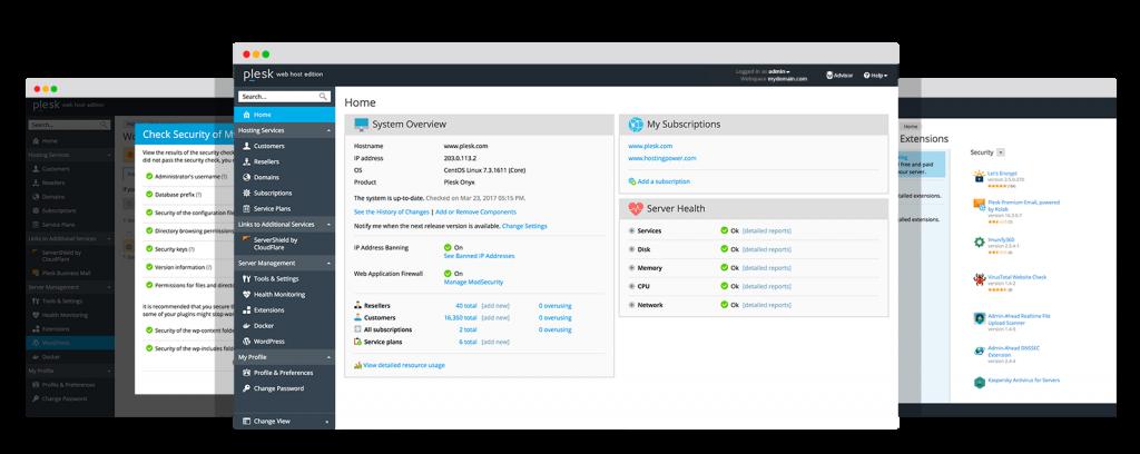 Plesk là công cụ quản trị web hosting đơn giản
